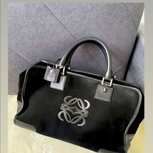 Amazona 23 bag black in suede and calfskin